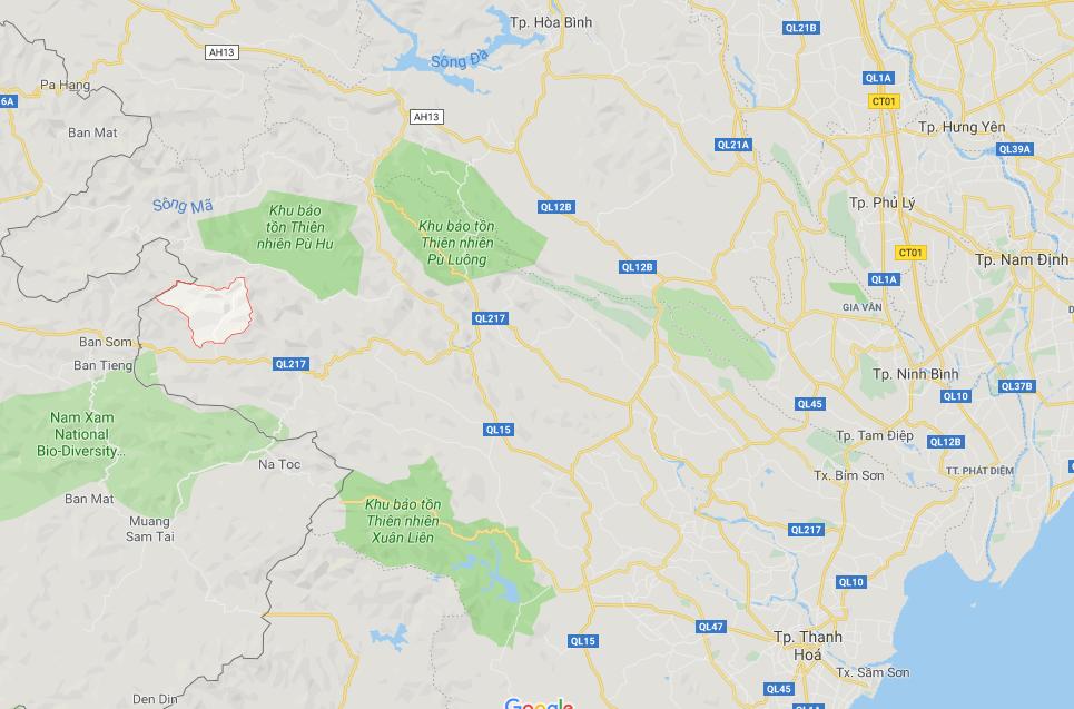 Xã Sơn Thủy phía tây Thanh Hóa, giáp Lào