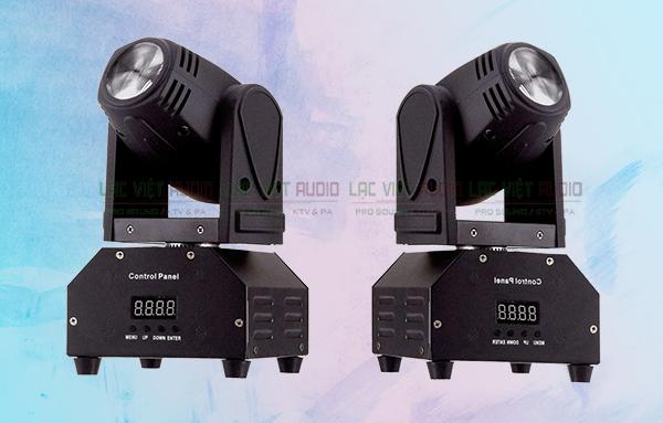 Đèn Moving Beam mini 10W với kích thước nhỏ gọn