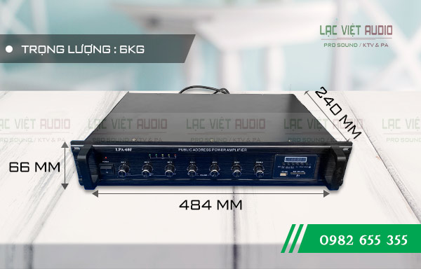 Kích thước sản phẩm AmplyDB LP-60F