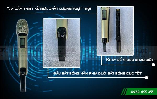 Phần tay cầm sản phẩm Micro không dây DB KS - 605  được với thiết kế hoàn toàn mới