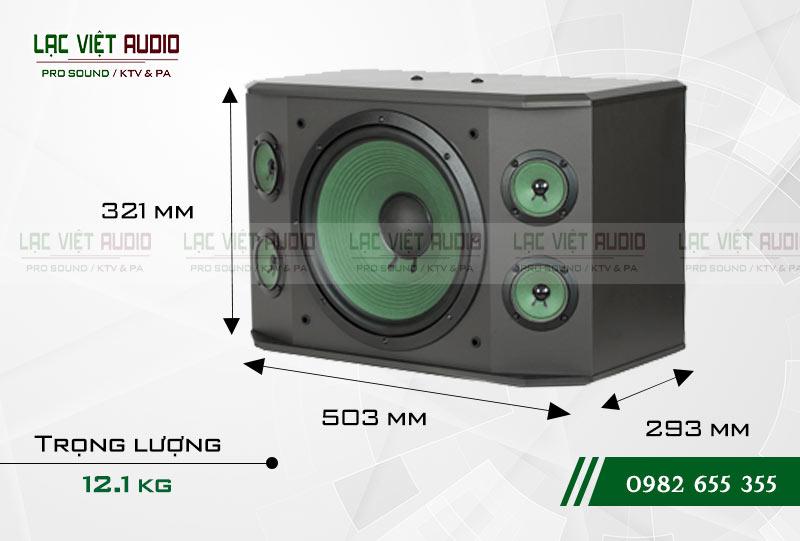 Thông tin trọng lượng Loa Paramax K-1000 NEW