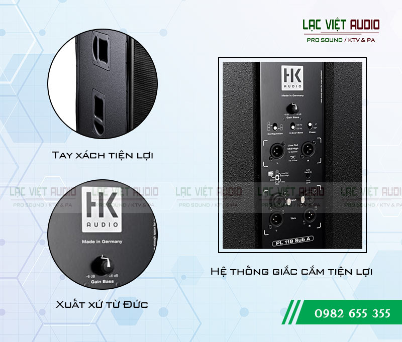 Chi tiết Loa sub HK PL-118A