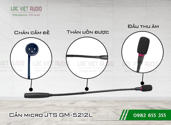 Cấu tạo sản phẩm Micro cổ ngỗng JTS GM-5212L