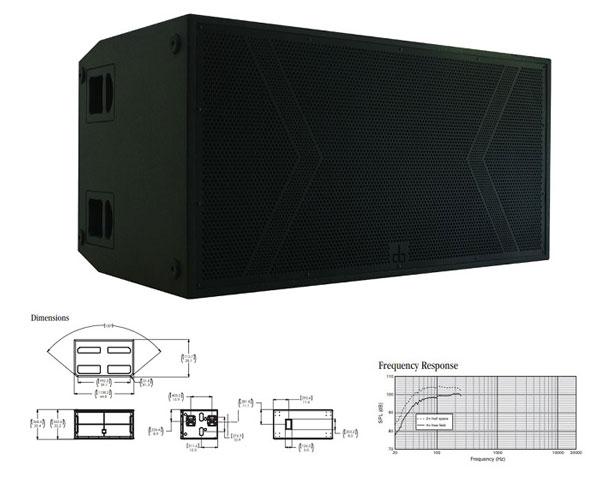 Thiết kế loa sub DB LA218S