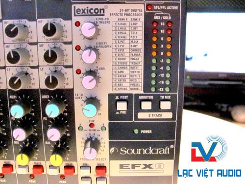 Thiết kế Mixer Soundcraft EFX8