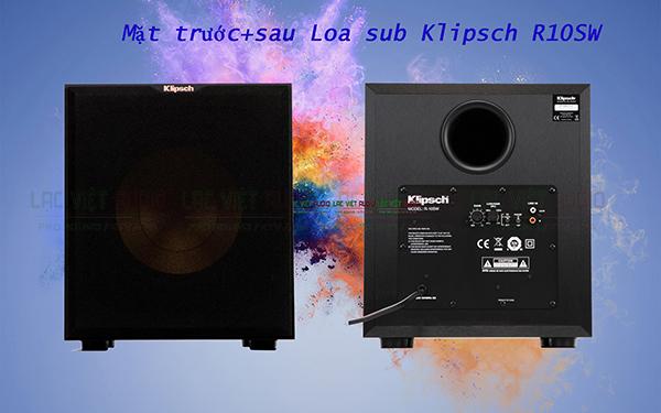 Mặt trước + sau Loa sub Klipsch R10SW