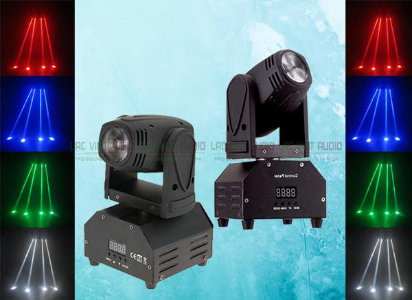 Đèn Moving Beam mini 10W có thể chiếu nhiều màu sắc khác nhau
