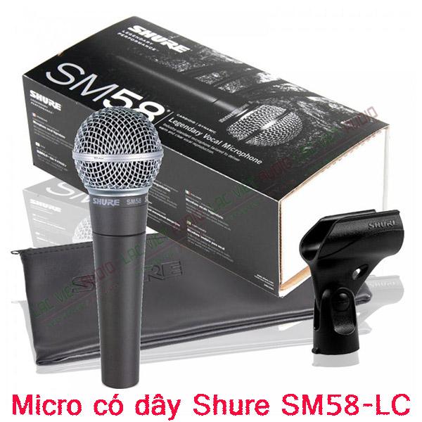 Trọn bộ sản phẩm Micro có dây Shure SM58-LC