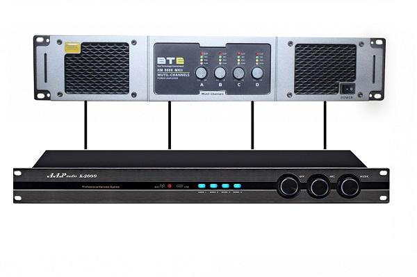 Vang số AAP K1000II kết hợp cục đẩy 4 kênh 8600MKII