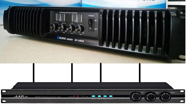 Sự kết hợp của cục đẩy 4 kênh Budhe KT4800 và AAP K1000II