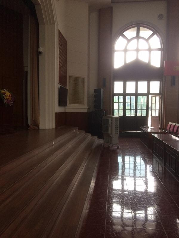Vế còn lại của dàn loa array cho học viện KHQS